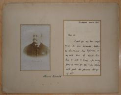 RARE SIGNED CABINET LETTER HUNGARIAN STATESMAN FRANCIS KOSSUTH WEKERLE 1905 - Other Collections