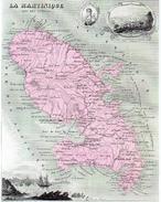 La Martinique.feuille:223 X 174 Mm.19e - Cartes Géographiques