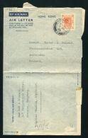 HONG KONG KOWLOON KING GEORGE 6TH 1949 AIRLETTER - Hong Kong (...-1997)
