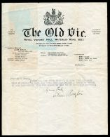 THE OLD VIC PRODUCER MANAGER LILIAN BAYLIS LETTER ENO ROYAL BALLET - Old Paper