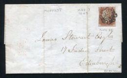 GB SCOTLAND VICTORIA 1d RED ALCOHOL TEMPERANCE INDIA MOFFATT 1843 - 1840-1901 (Victoria)