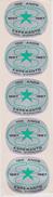 (ST) Sticker - Glumarko - Green Star From Brazil - Verda Stelo El Brazilo - Esperanto