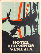 "D5785 "" HOTEL TERMINUS - VENEZIA  "" ETICHETTA ORIGINALE - ORIGINAL LABEL - Adesivi Di Alberghi"