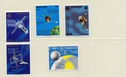 PARAGUAY / Espace 4 Valeurs + 1 Vignette Dentelé Neuf MNH Cote 10.00 Vente 2.00 Euros