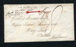 NEW ZEALAND OTAGO 1851 RARE MANUSCRIPT DUBLIN IRELAND - New Zealand