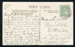 GB IRELAND DERRY RAILWAYS EDWARD 7TH 1906 - 1902-1951 (Kings)