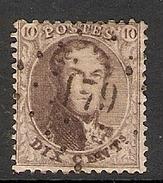 003881 Belgium 1863 10c Used - 1863-1864 Medallions (13/16)