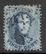 003882 Belgium 1863 20c Used - 1863-1864 Medallions (13/16)