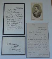 COLONEL COLVILLE AND DR HICKMAN LETTERS RE DUKE OF EDINBURGH ILLNESS CDV 1889 - Unclassified