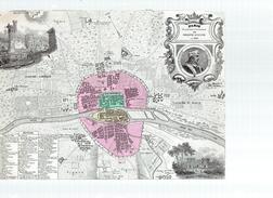 Paris Au Temps De Philippe Auguste En 1180.feuille:223 X 174 Mm.19e - Cartes Géographiques