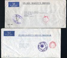 HONG KONG OFFICIAL OHMS 1961 AND 1983 RADIO AND MARINE DEPARTMENT - Hong Kong (...-1997)