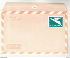 1970  ISRAEL 0.35 AEROGRAMME Postal Stationery Cover Stamps - Israel