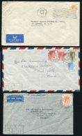 HONG KONG KING GEORGE 6TH AIRMAIL COVERS - Hong Kong (...-1997)