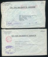 HONG KONG OFFICIAL OHMS RADIO COVERS 1959 AND 1961 - Hong Kong (...-1997)