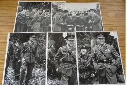 14 ORIGINAL B&W PHOTOS OF PRINCE PHILIP DUKE OF EDINBURGH IN MILITARY UNIFORM - Photographs