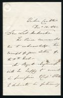 PRINCE CONSORT SECRETARY GEORGE ANSON LETTER TO LORD HARDWICKE 1841 WINDSOR - Other Collections