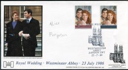 GREAT BRITAIN ROYAL WEDDING PRINCE ANDREW SIGNED BRIDESMAID 1986 - Great Britain