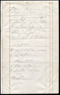 RARE REGIMENTAL BILL OF FARE CHRISTMAS DINNER GUARDS MESS CRIMEA 1855 SEFTON - Other Collections