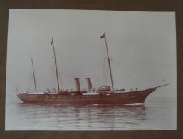 LARGE ORIGINAL SYMONDS & CO PHOTO ROYAL YACHT HMY VICTORIA & ALBERT 1909 - Photographs