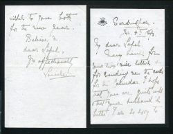 FINE RARE PRINCESS LOUISE DUCHESS FIFE LETTER RE DEATH PRINCE ALBERT VICTOR 1893 - Other Collections
