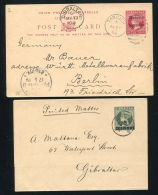 GIBRALTAR STATIONERY CARD WRAPPER VICTORIA MOROCCO AGENCIES TANGIER - Gibilterra
