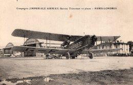 V9177 Cpa Aviation - Compagnie ( Impériale Airway) Service Trimoteur 20 Places Paris Londres - Aviation