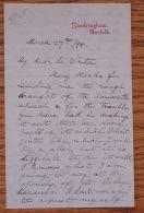 LETTER PRINCE GEORGE DUKE OF YORK KING GEORGE V 1894 SIR FRANCIS DE WINTON - Old Paper