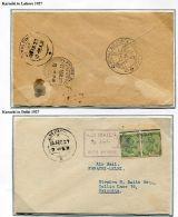 INDIA PAKISTAN STACK AND LEETE FLIGHT 1927 KARACHI RAF DISPLAY LAHORE DELHI - India (...-1947)