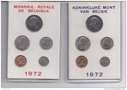 FDC-muntenset 1972 2 Mapjes In Karton Met Rood En Blauwe Opdruk - 1951-1993: Baudouin I