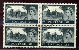 GB QE11 1955 WATERLOW 5/- £1 BLOCKS - 1902-1951 (Kings)