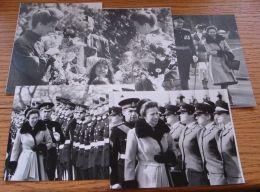 FIVE ORIGINAL PHOTOS PRINCESS ANNE PRINCESS ROYAL REVIEWING TROOPS SANDHURST - Photographs