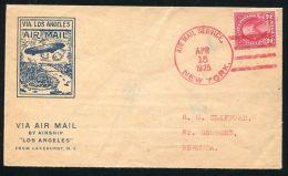 UNITED STATES AIRSHIP 1925 LAKEHURST TO BERMUDA - Postal History