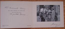 RARE CHRISTMAS CARD PRINCESS MARY ROYAL MARQUESS CARISBROOKE BATTENBERG 1952 - Non Classificati