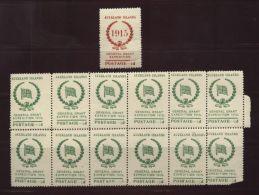 ANTARCTIC/AUCKLAND ISLANDS/NEW ZEALAND 1915 SHEET - New Zealand