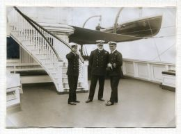ON BOARD THE ROYAL YACHT VICTORIA AND ALBERT III WG STAINER ANTIQUE PHOTO - Photographs