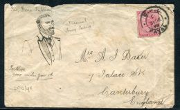 NATAL ILLUSTRATED ENVELOPE IMPERIAL PENNY POST 1898 - South Africa (...-1961)