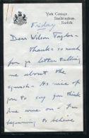 LETTER PRINCE EDWARD OF WALES KING EDWARD VIII DUKE OF WINDSOR BATH CLUB - Unclassified