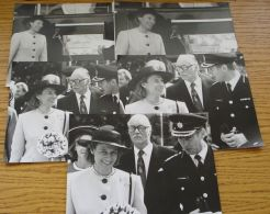 FIVE ORIGINAL B&W PHOTOS DUCHESS OF GLOUCESTER OPENING RUSHMORE FIRE STATION - Photographs