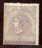 GB FISCALS 1860-67 3d WMK ANCHOR - 1840-1901 (Victoria)