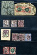 GB KEV11 1911-1913 SOMERSET HOUSE USED SELECTION - 1902-1951 (Koningen)