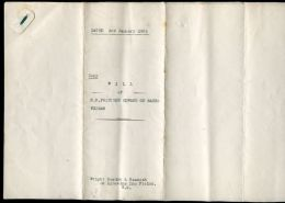 COPY WILL OF PRINCESS EDWARD OF SAXE-WEIMAR GORDON LENNOX 1903 - Unclassified
