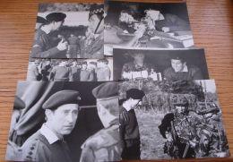 TEN ORIGINAL B&W PHOTOS PRINCE CHARLES UNIFORM REVIEWING GHURKHA REGIMENT - Photographs