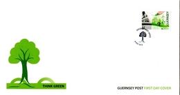 "Europa 2016 ""Think Green"" - Guernsey Guernesey FDC - Europa-CEPT"