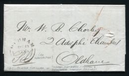 GB RAILWAYS 1845 OLDHAM, MANCHESTER, LIVERPOOL AND BIRKENHEAD JUNCTION RAILWAY - Marcofilie