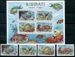 KIRIBATI 1985 BLOC + TIMBRES LUXE  Neuf **  MNH POISSONS - Kiribati (1979-...)