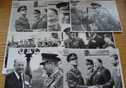 7 ORIGINAL B&W PHOTOS OF PRINCE PHILIP DUKE OF EDINBURGH IN MILITARY UNIFORM - Photographs