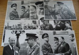 7 ORIGINAL B&W PHOTOS OF PRINCE PHILIP DUKE OF EDINBURGH IN MILITARY UNIFORM - Beroemde Personen
