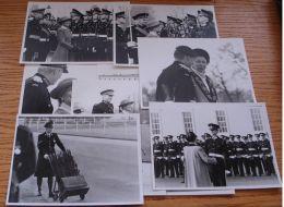 NINE ORIGINAL B&W PHOTOS KATHERINE DUCHESS OF KENT REVIEWING TROOPS SANDHURST - Photographs