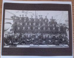 FINE LARGE NAVAL PHOTOGRAPH OF OFFICERS HMS WARSPITE 1900 BEAUMONT WALKER - Photographs