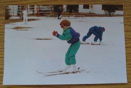FINE ORIGINAL PRESS PHOTO PRINCE HARRY & PRINCE WILLIAM AUSTRIA 1991 SKIING - Non Classés